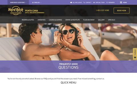 Frequently asked questions Hard Rock Hotel & Casino Punta Cana