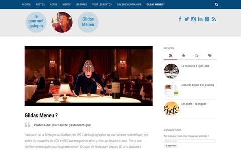 Screenshot of Contact Page gourmet-galopin.com - contact | le gourmet galopin - captured June 3, 2016