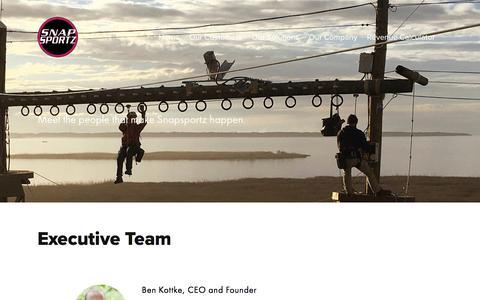 Screenshot of Team Page snapsportz.com - The Team — Snapsportz - captured Sept. 21, 2018