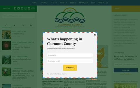 Screenshot of Services Page visitclermontohio.com - Sports Services | Visit Clermont County - captured Sept. 28, 2018