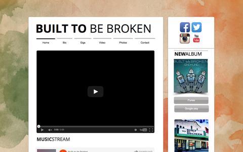 Screenshot of Home Page builttobebroken.com - builttobebroken2 - captured Sept. 7, 2015