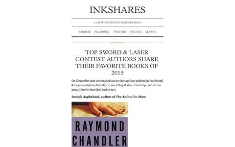 Screenshot of Blog inkshares.com - INKSHARES - captured Jan. 3, 2016