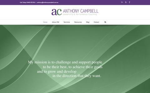 Screenshot of Home Page embarkleadership.com.au - Home - Anthony Campbell - captured Sept. 10, 2015
