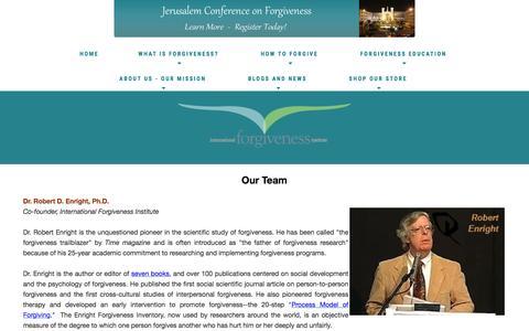 Screenshot of Team Page internationalforgiveness.com - Team: Forgiveness Institute - How to Forgive - Benefits of Forgiving   healing hearts, building peace Team - captured April 9, 2017