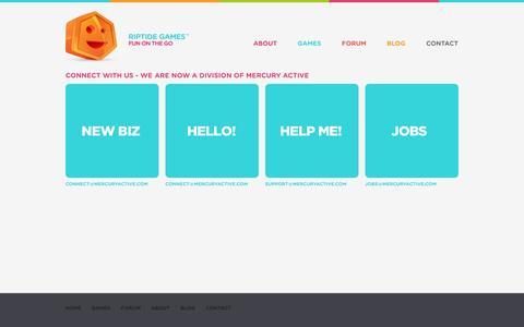 Screenshot of Contact Page riptidegames.com - Contact – Riptide Games - captured Sept. 30, 2014