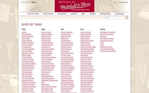 Screenshot of Team Page mitchellandness.com - Mitchell & Ness Nostalgia Co. - captured Oct. 26, 2014
