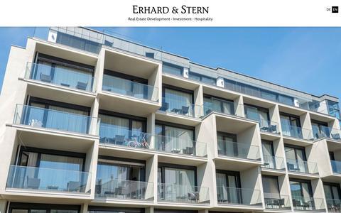 Screenshot of Home Page erhardstern.com - Erhard & Stern | Real Estate · Commercial · Hospitality · Invest · Boardinghouse | Heidelberg & Mannheim - captured Sept. 29, 2018
