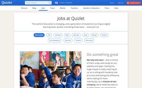 Jobs | Quizlet