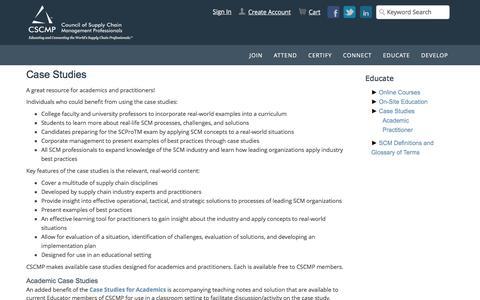 Screenshot of Case Studies Page cscmp.org - Case Studies - captured Dec. 29, 2016