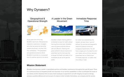 Screenshot of About Page dynaserv.com - Why Dynaserv? — DynaServ Industries, Inc. - captured Oct. 13, 2017