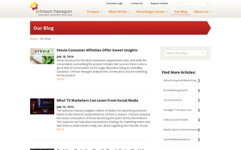 Screenshot of Blog crimsonhexagon.com - Blog - Crimson Hexagon - captured July 19, 2014