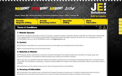 Screenshot of Terms Page jeiuk.com - Terms & Conditions | Legal Information | JEI Solutions Ltd - captured Oct. 4, 2014