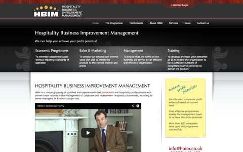 Screenshot of Case Studies Page hbim.co.uk - Hospitality Business Improvement Management - captured Oct. 3, 2014
