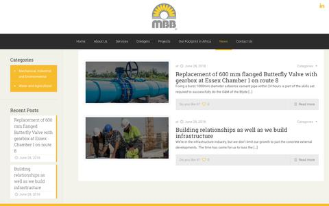 Screenshot of Press Page mbb.co.za - News – MBB Consulting Engineers - captured Oct. 1, 2018