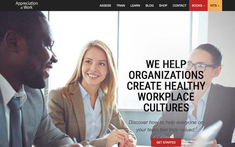 Screenshot of Home Page appreciationatwork.com - 5 Languages of Appreciation at Work | How to Show Appreciation at Work : Appreciation at Work - captured Nov. 6, 2018
