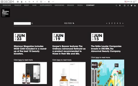 Screenshot of Blog deciem.com - DECIEM | Deciem Blog - captured July 7, 2017