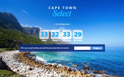 Screenshot of Contact Page capetownselect.com - Contact | Cape Town Select - captured Sept. 29, 2014