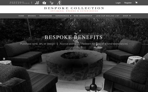 Screenshot of Home Page bespokecollection.com - Welcome to the Bespoke Collection Web site                       Bespoke Collection - captured Aug. 1, 2018