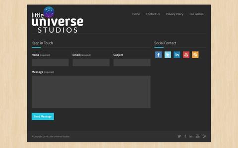 Screenshot of Contact Page littleuniversestudios.com - Contact Us | Little Universe Studios - captured Dec. 12, 2015
