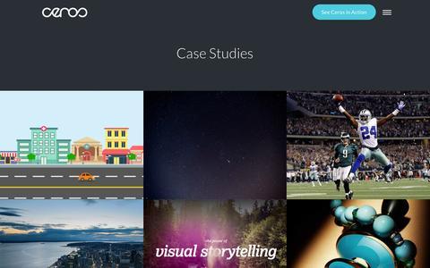 Screenshot of Case Studies Page ceros.com - Top Interactive Content Marketing Case Studies | Ceros - captured April 5, 2016