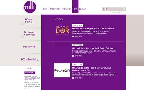 Screenshot of Press Page mill-luxe.com - News of MILL-Luxe - captured Sept. 30, 2014