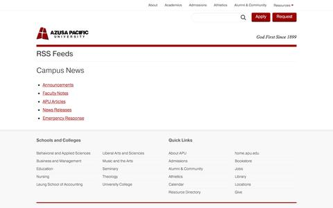 RSS Feeds - Azusa Pacific University