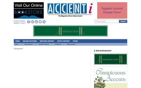 Screenshot of Team Page accenti.ca - Editorial Team - captured Oct. 7, 2017