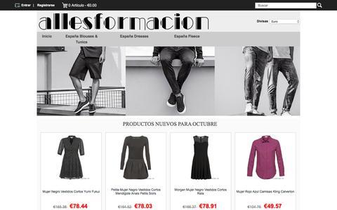 Screenshot of Home Page allesformacion.es - España Dresses,España Fleece,España Jeans For España Venta barata - Diseño ancho - captured Oct. 7, 2017