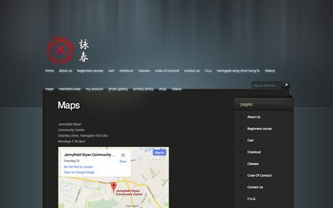 Screenshot of Maps & Directions Page harrogatewingchun.co.uk - Map - Harrogate Wing Chun Classes | Harrogate Wing Chun Kung Fu - captured Oct. 2, 2014