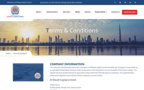Screenshot of Terms Page almasahcapital.com - Almasah Capital - captured Oct. 3, 2018