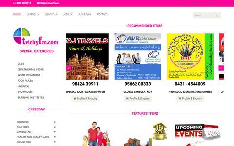 Screenshot of Home Page trichyfm.com - trichy fm- business directory Free  Classified Ads Tiruchirappalli / Trichy | Free Ads Posting Classifieds Tiruchirappalli / Trichy | ads Tiruchirappalli / Trichy - trichyfm.com - captured Jan. 29, 2015