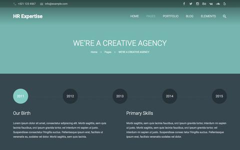 Screenshot of About Page hrexpertise.org - WE'RE A CREATIVE AGENCY - ss_site_title - captured Jan. 23, 2016