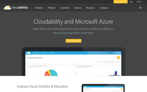 Enable faster innovation and business agility with Azure and Cloudability
