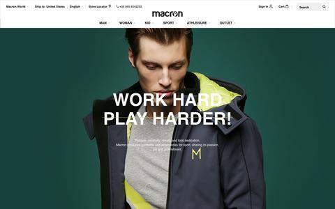Screenshot of About Page macron.com - Macron World - Macron - captured Nov. 18, 2016