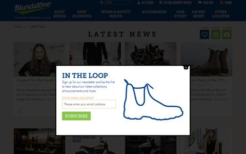 Screenshot of Press Page blundstone.com - Latest News - Blundstone USA - captured Nov. 23, 2016