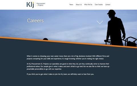 Screenshot of Jobs Page klj.net.au - Careers | KLJ - captured Oct. 6, 2014