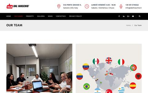 Screenshot of Team Page dalmaschio.com - Our Team - Dal Maschio SRL - captured Nov. 13, 2018