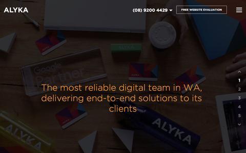 Screenshot of Home Page alyka.com.au - Web Design & SEO Perth - Full Service Digital Agency   Alyka - captured May 29, 2017