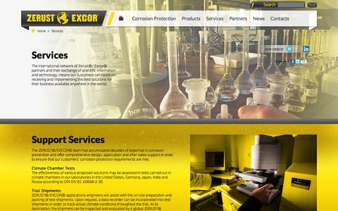 Screenshot of Services Page zerust.co.uk - Services - captured Oct. 7, 2014