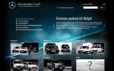 Screenshot of Home Page u1.be - USED 1 - Mercedes Benz - Mercedes-Benz Tweedehands Bestelwagens en Services - captured Sept. 25, 2014