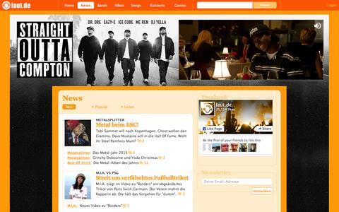 Screenshot of Press Page laut.de - News Đ laut.de Đ TŠglich aktuelle Nachrichten aus der Musikwelt - captured Jan. 14, 2016