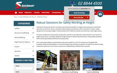 Screenshot of Products Page safesmartaccess.com.au - Access Scaffolding and More at | SafeSmart Access - captured Jan. 31, 2017