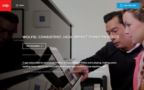 Screenshot of Maps & Directions Page tonara.com - Wolfie for piano app - Tonara and Wolfie for Piano - captured Dec. 10, 2015