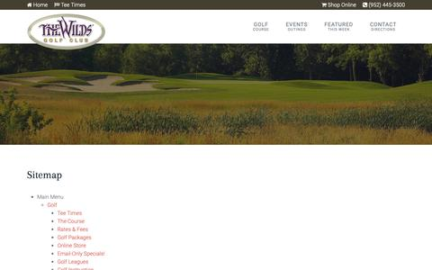 Screenshot of Site Map Page golfthewilds.com - The Wilds Golf Club | Prior Lake, MN - Sitemap - captured Nov. 7, 2018