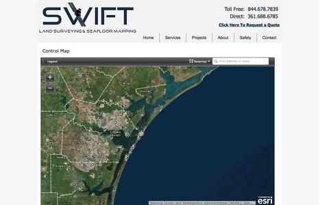 Screenshot of Maps & Directions Page swiftsurveying.com - Swift Surveying | Land Surveying & Seafloor Mapping | Maps - captured Dec. 1, 2016