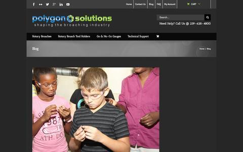 Screenshot of Blog polygonsolutions.com - Rotary Broaching Blog - captured Oct. 3, 2014