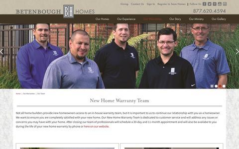 Screenshot of Team Page betenbough.com - New Home Warranty Team | Betenbough Homes - captured Nov. 22, 2016