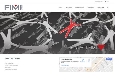 Screenshot of Contact Page fimigroup.com - FIMI Group Contact FIMI   Celebrity Booking   Procurement for Endorsements & Appearances - captured March 10, 2017