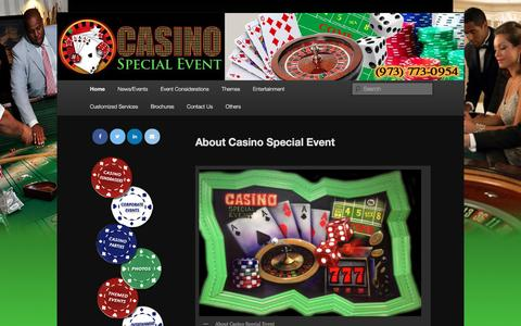 Screenshot of About Page casinospecialevent.com - About Casino Special Event - Casino Special EventCasino Special Event - captured May 15, 2017