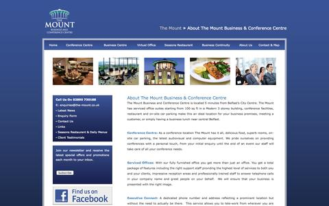 Screenshot of About Page the-mount.co.uk - The Mount Belfast - About The Mount Business & Conference Centre - captured Oct. 9, 2014